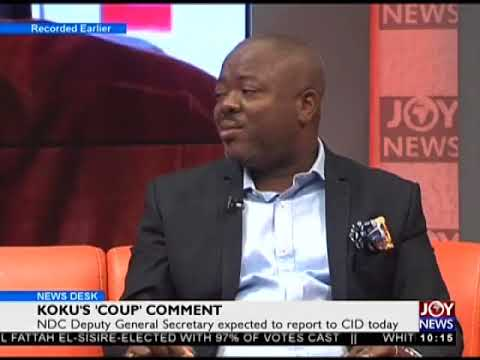Koku's 'Coup' Comment- News Desk on Joy News (3-4-18)
