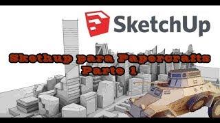 Desenhando Papercraft Com O SketchUp/ SketchUp To Papercraft. Tutorial Parte 1