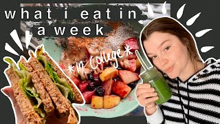 what i eat in a week as a college student// vegan!!!!