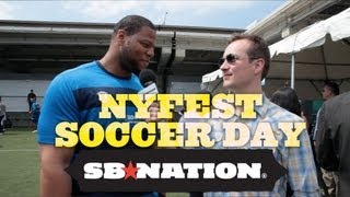 Celebrity Soccer Day in NYC with Ndamukong Suh, Jimmy Conrad, and others thumbnail
