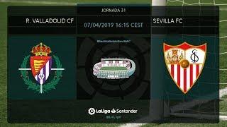 Calentamiento R. Valladolid CF Vs Sevilla FC