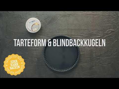 Tarteform und Blindbackkugeln