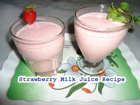 Video strawberry milk juice recipe