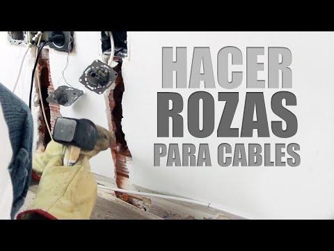 Hacer una roza para tubo de cableado