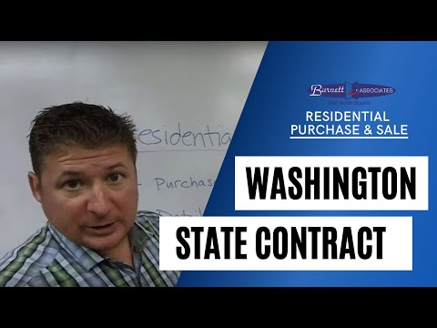 Washington Residential Real Estate Purchase And Sale