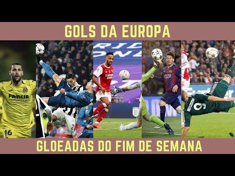 GOLEADAS NA EUROPA WEEKEND 3 #futebol