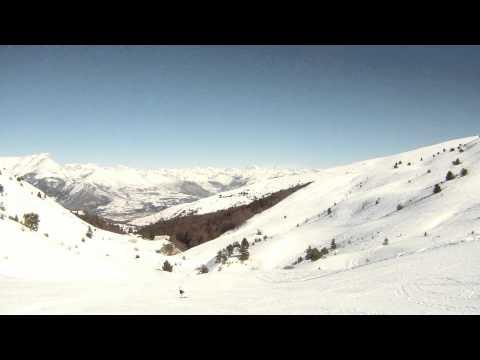 Sur les pistes de ski de Ceüze