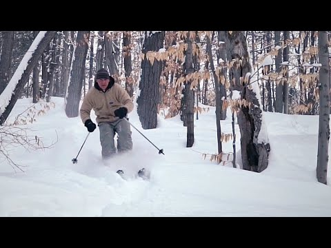 Telemark Skiing XCD Backcountry Altai Kom with Leather Boots HD
