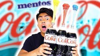 DIET COKE MENTOS BALLOON EXPERIMENT! (Explosion) | Kholo.pk