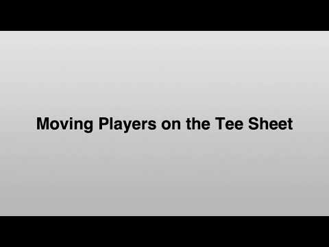 Setting Course, Tee, Starting Times, and Starting Holes - YouTube