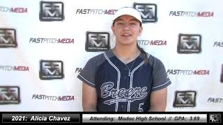 2021 Alicia Chavez Catcher and First Base Softball Skills Video - CA Breeze North State