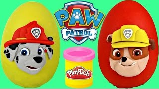 Paw Patrol Toy Play-Doh Egg Surprises with Rubble & Marshall