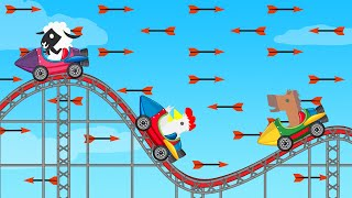The IMPOSSIBLE Roller Coaster Level! (Ultimate Chicken Horse)