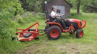 #51 Kubota B2601 Compact Tractor FDR1660 Finish Mower or Bush Hog?