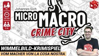 MicroMacro: Crime City im Test - (Johannes Sich, Pegasus 2020) - Spiel des Jahres 2021  // Rezension