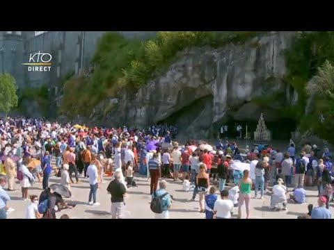 Chapelet du 14 août 2020 à Lourdes
