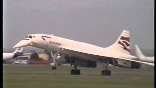 Concorde G-BOAE takeoff and landing at Filton 30 Aug 1999