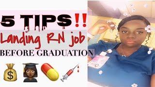 Guaranteed: Landing RN job before graduation | 5 Tips | Nursing Vlog