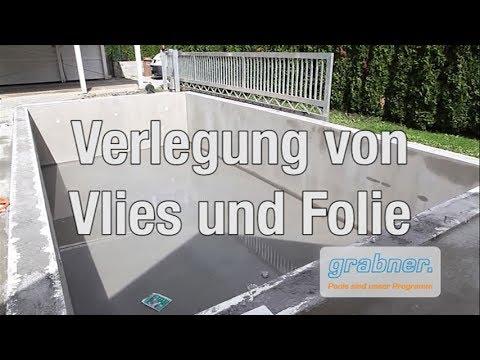 Schalsteinbecken - Montagehilfe / Teil 7 Verlegung von Vlies und Folie
