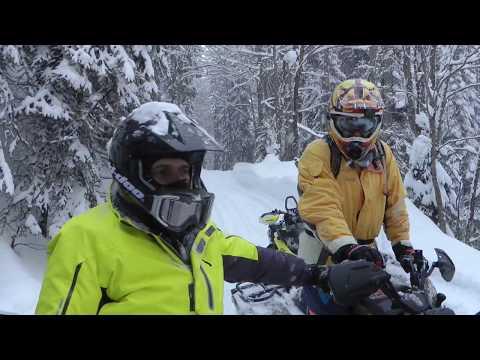 Сравнили BRP Ski-doo и Polaris. Снегоходы, Красная поляна.