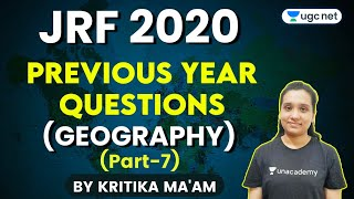 UGC NET Geography Previous Year Questions | Detailed Discussion with Kritika Pareek