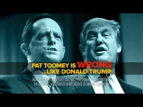 Pat Toomey: Like Donald Trump, he's wrong.