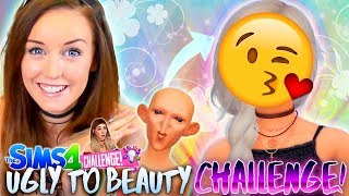 UGLY to BEAUTY Challenge 💡 - DOBBY IS FREE! 😂 -- (Sims 4 CAS!)