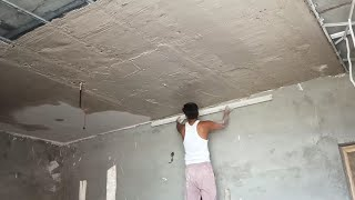 Pop Ke Kaam Mein False Ceiling Ka Plaster Jali Lagakar Plaster Aise Hota Hai#KumarGroups Pop 1 Volge