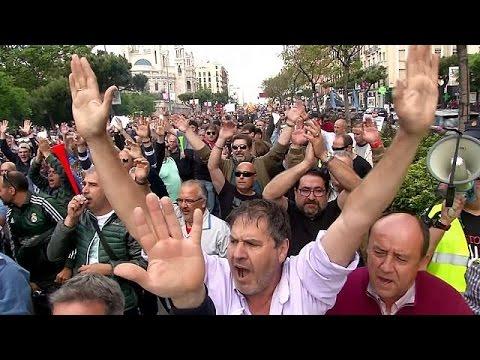 Διαδηλώσεις κατά της Uber σε Ισπανία και Ρουμανία