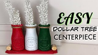 Dollar Tree Christmas Centerpieces Diy | How To Use Chalk Paint On Glass Jars