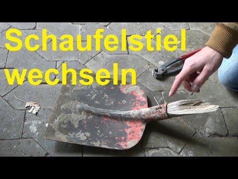 Schaufelstiel wechseln Schaufel Spaten einstielen Schaufelstiel abgebrochen gebrochen