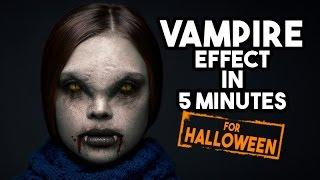Vampire Effect in Photoshop tutorial