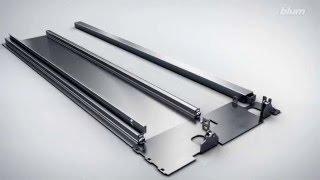Wysoka szuflady wewnętrznej LEGRABOX Blum z relingiem