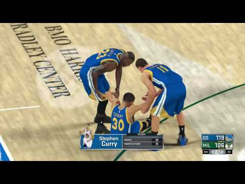NBA 2K17 Stephen Curry Ankle Injury!