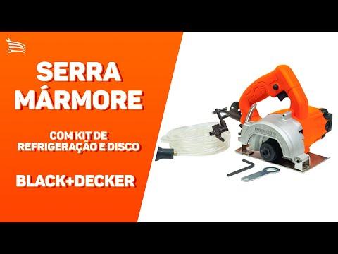 Serra Mármore de 4.1/2 Pol. - 115mm 1100W  com Kit de Refrigeração e Disco - Video