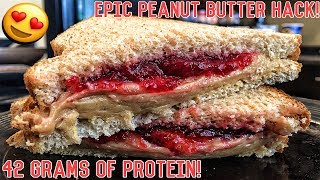 High Protein Bodybuilding Peanut Butter & Jelly Sandwich | Healthy Recipe