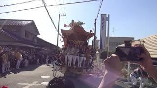 平成30年10月21日 八田荘だんじり祭り 大池パレード