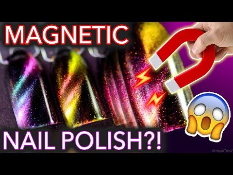 Magic MAGNETIC Nail Polish?!  (maybe don't wear metal)
