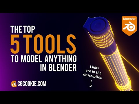The ONLY 5 Modeling Tools You Need To Make ANYTHING in Blender 2.91!
