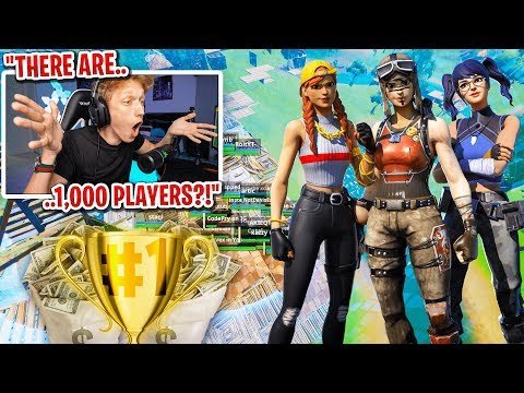 I got 1,000 PLAYERS to scrim for $1,000 in Fortnite... (4 Million Subscribers Tournament)