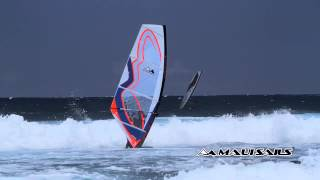 preview picture of video '114 Double air funnel at Hookipa on 2015 LocoPro freestyle sail'