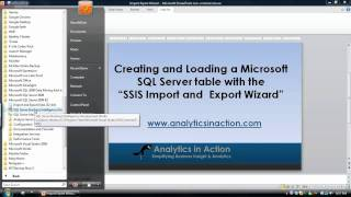 Creating & populating a Table in SQL Server using the SSIS Import & Export Wizard