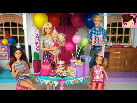 Barbie Chelsea Birthday Party Routine In Hello Dream House Mp3