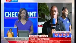 Raila Odinga hospitalized in Mombasa after campaigns in Kilifi