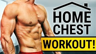 20 Minute Home Chest Workout! - NO DUMBBELLS OR BARBELLS! | FULL MUSCLE BUILDING ROUTINE! by ScottHermanFitness