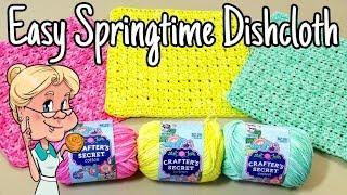 Easy Springtime Dishcloth - Crochet Tutorial - FREE PATTERN