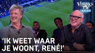 Man in publiek reageert op lachende René: 'Ik weet waar je woont!' | CHAMPIONS LEAGUE
