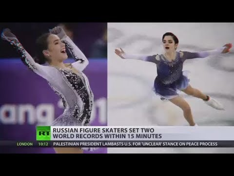 Russian figure skaters set two world records within 15 minutes