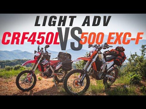 Honda CRF450L vs KTM 500 EXC-F Light Adventure Bike Shootout