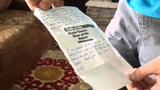 Idaho boy who aided injured dad in wilderness reads note